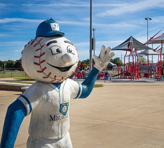the miracle league statue