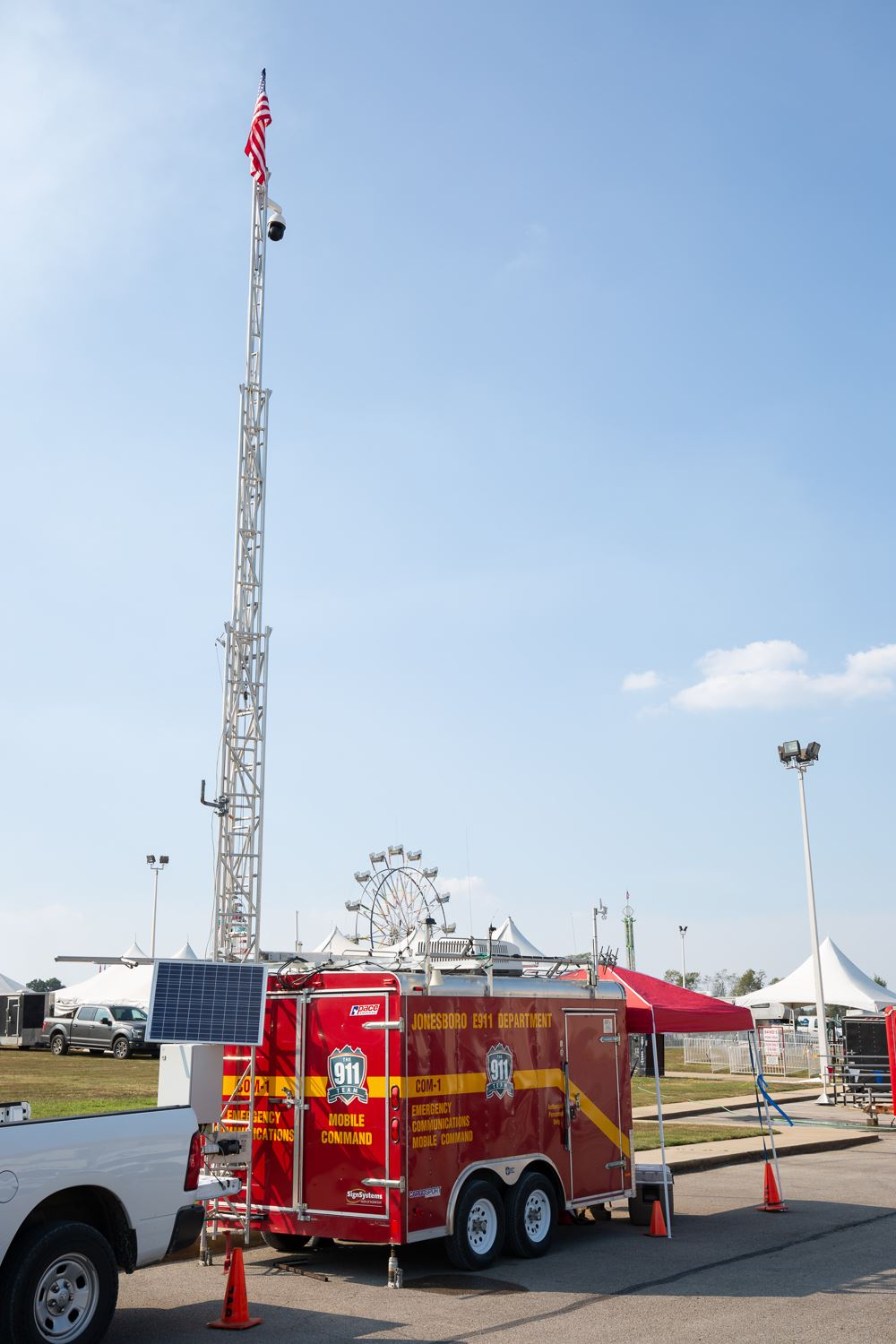 E-911 Mobile Command set up at the Northeast Arkansas District Fair.
