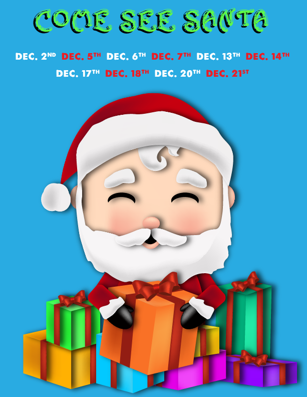 Santa at Winter Wonderland Dates Graphic
