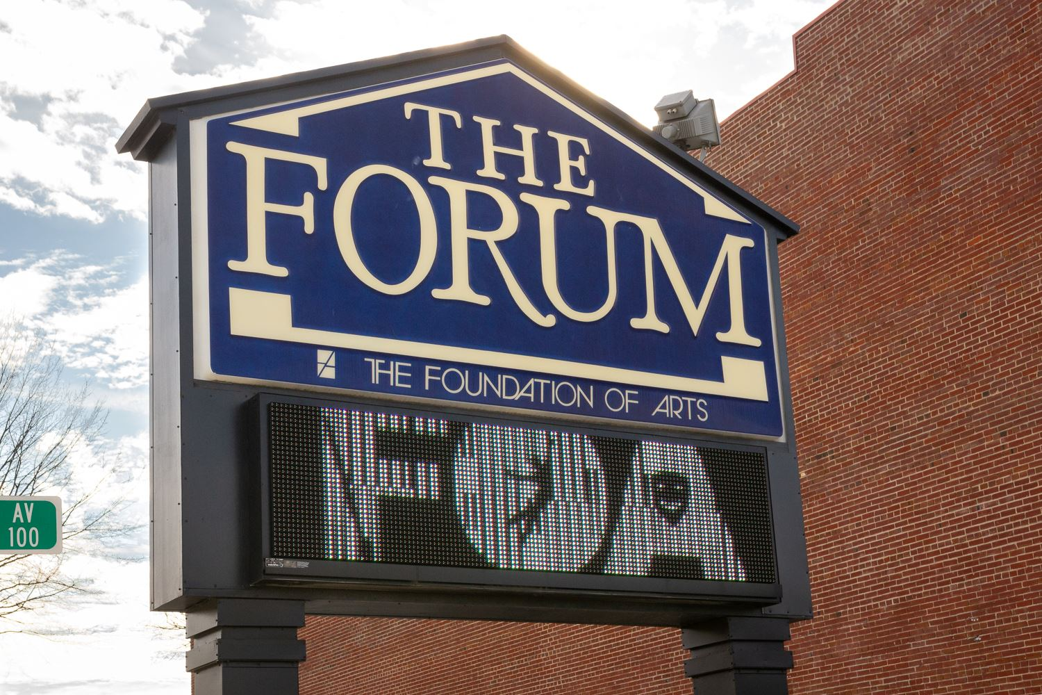 Forum Theater sign