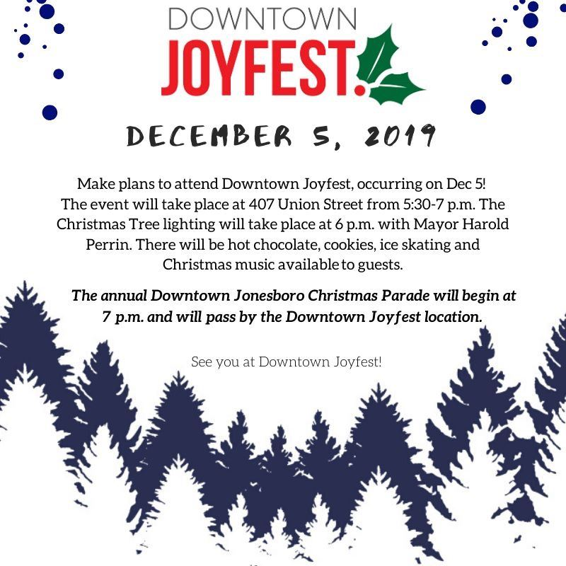 Joyfest 2019 on December 5, 2019 at 407 Union Street from 5:30 to 7:30 p.m.