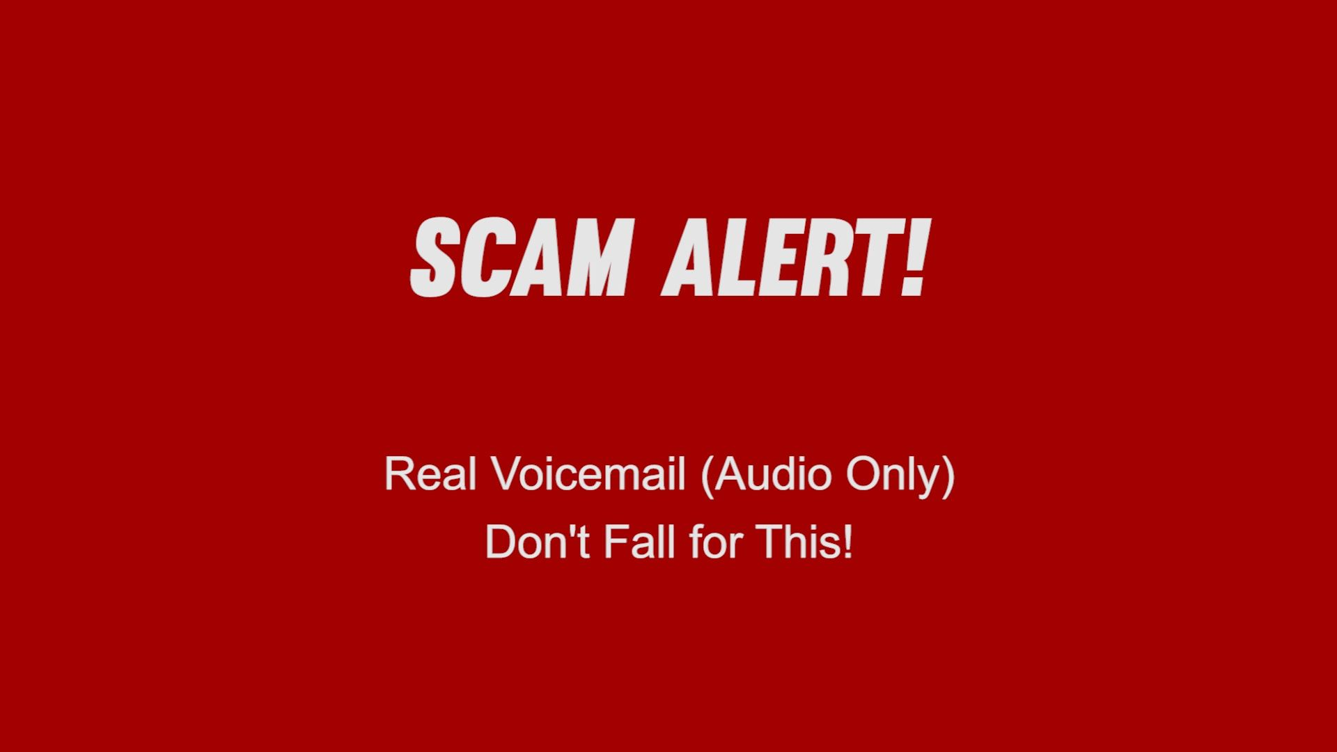 Scam Alert graphic