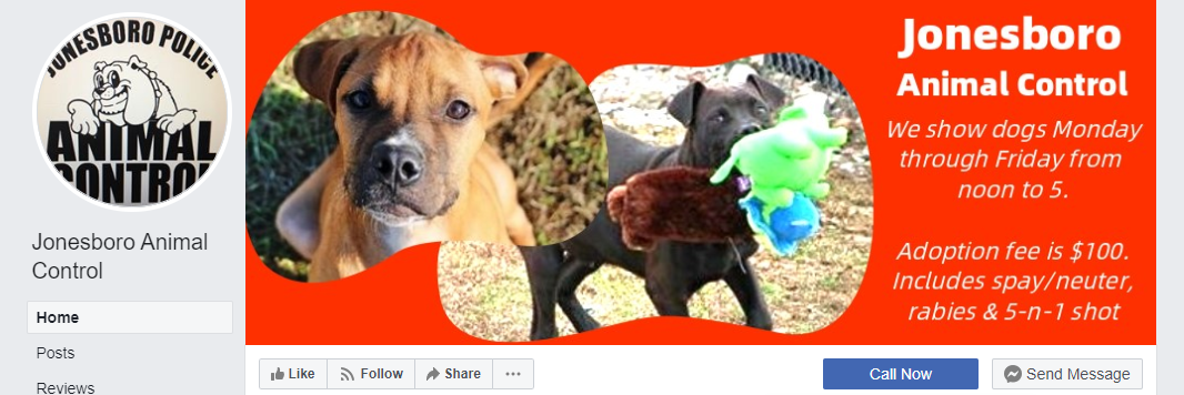 Jonesboro Animal Control Facebook page cover