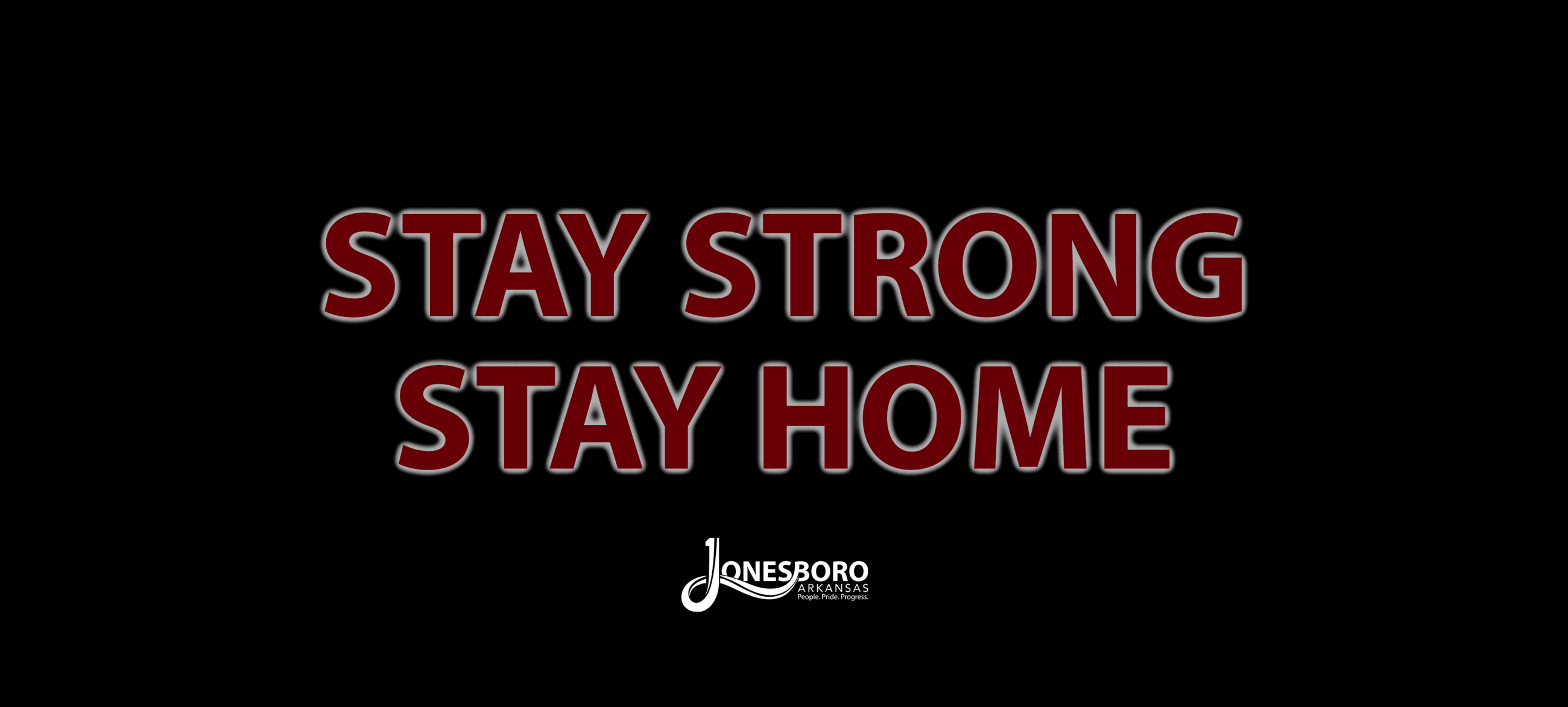 Stay Strong Stay Home graphic