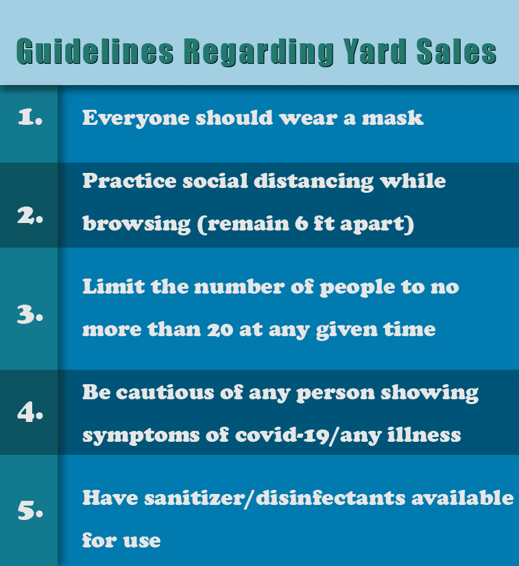 yard sale guidelines for Jonesboro Arkansas