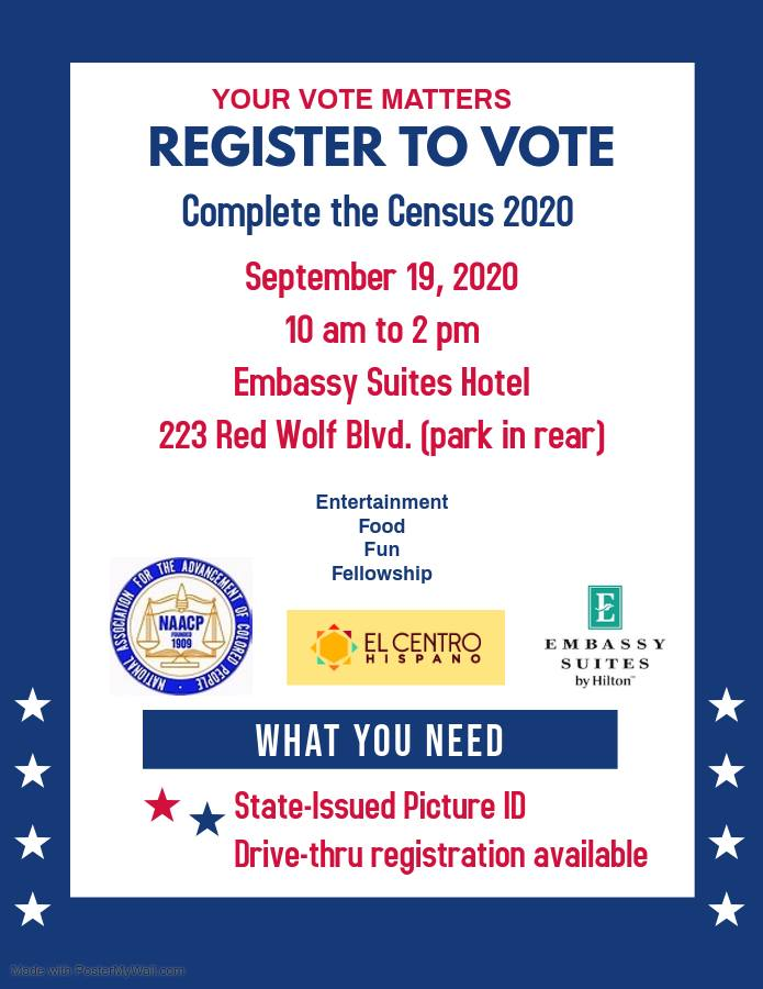 Census Completion/Voter Registration at Embassy Suites