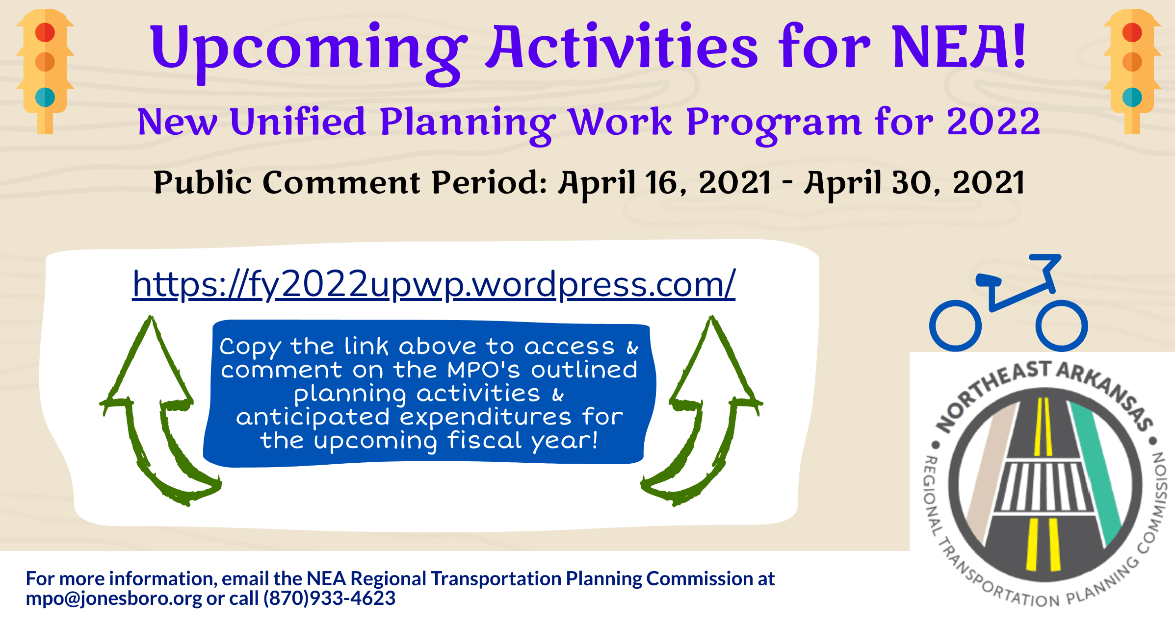 Promotional Flyer for 2022 Unified Planning Work Program website Opens in new window